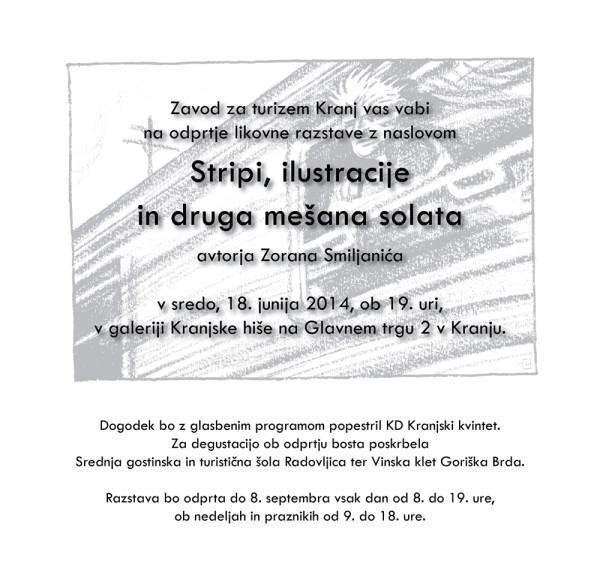 E-vabilo razstava Smiljanic junij 2014